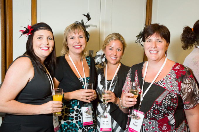 The ladies of the Dairy Women's Network enjoy cocktails at a pre dinner networking function at the Rutherford Hotel in Nelson