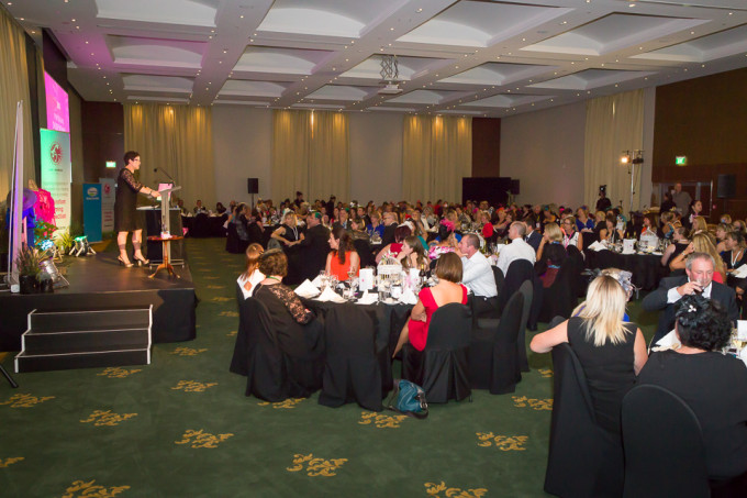 Sue Lindsay addresses the Dairy Women's Network Annual Conference Dinner 2013 at the Rutherford Hotel Event Venue in Nelson