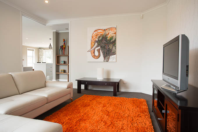 A TV lounge in a Nelson showhome