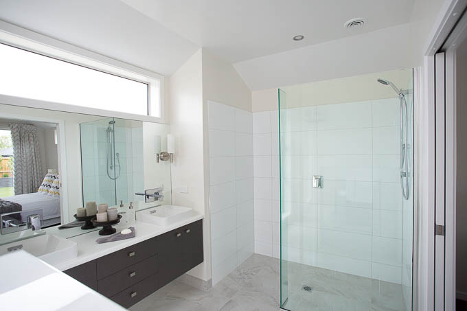 A photo of a luxury ensuite bathroom adjoining the master bedroom in a Nelson showhome