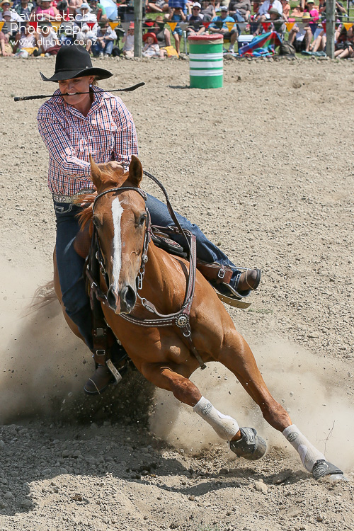 The barrel racing event at the local rodeo held in Richmond near Nelson NZ.