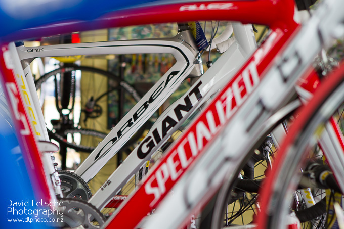Big name cycle brands at Village Cycles.