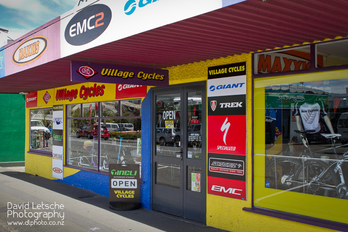 Village Cycles store frontage on Queen St.